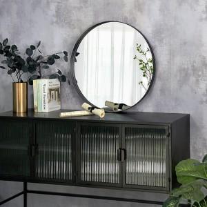 China Wholesale Mirrors Factories - Wholesale Decorative Round Circular Iron Framed Decor Wall Mirror 36316 – Powerlon
