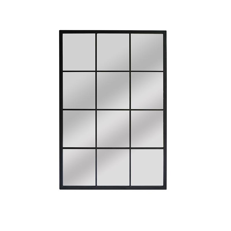 Wholesale Rectangle Black Metal Frame Decorative Mirror 36070