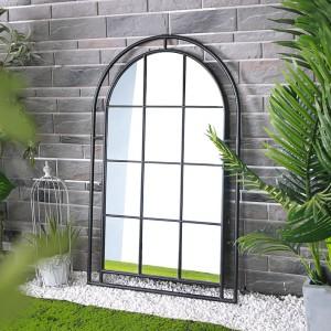 Wholesale Decorative Wall Mirror Wrought Iron Framed Antique Floor Mirror Living Room Garden Decor 39540