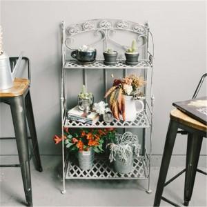 3 Tier Home And Outdoor Decor Metal Bathroom Corner Shelf