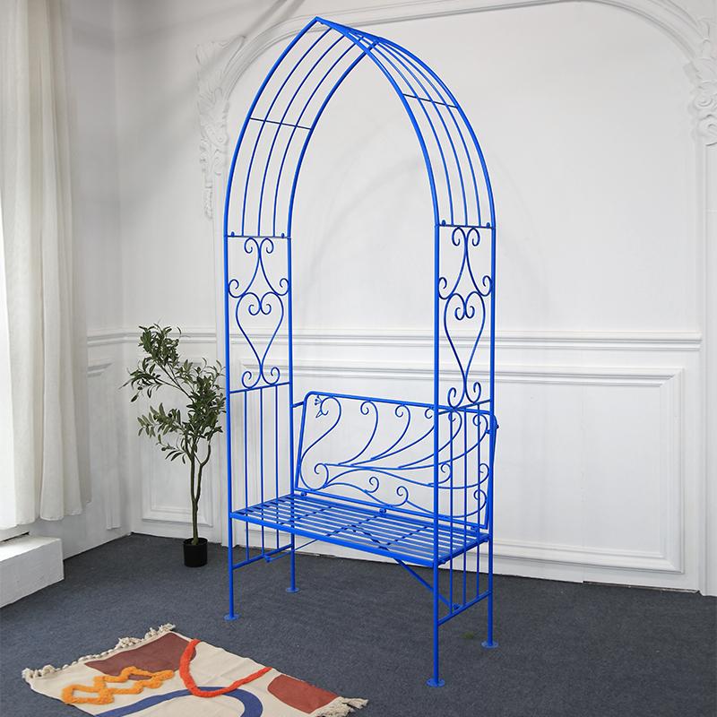 Blue Metal Peacock Garden Arches 38900_01