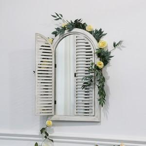 Cheap Decor Wood Frame Wall Floor Mirrors Arch Window 34077