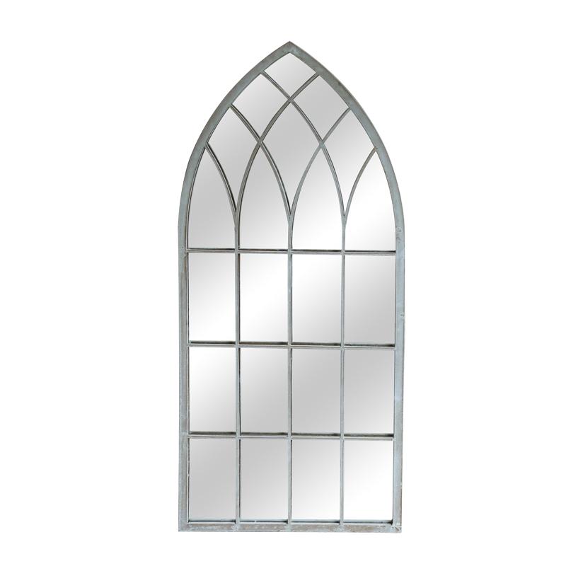 Classic Rustic Gothic Church Arch window Mirrors decoration Metal Framed Mirror Decor Wall Home garden mirror 9800s