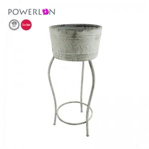 Design Weddings Garden Decoration Bicycle Metal Planter Stand Flower Pot 7676