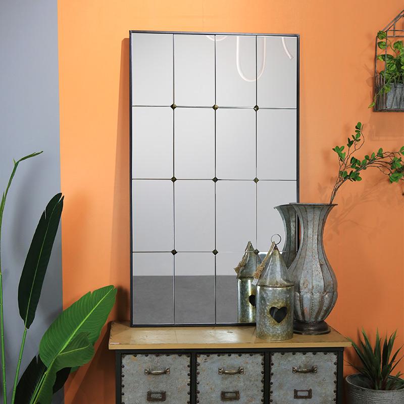Decorative Handmade Home Decor Metal Framed rectangle mirror 38507_04