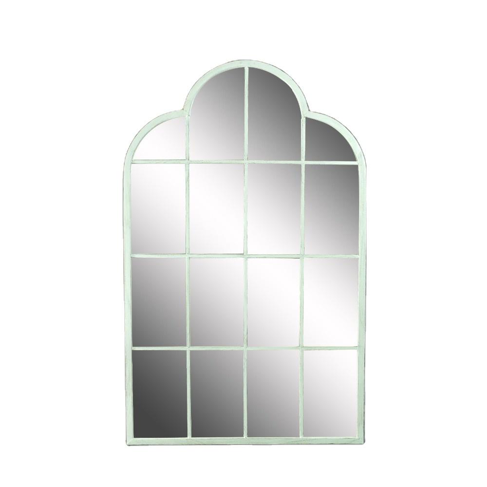 Decorative Iron Metal Framed Floor Copper Mirror Spiegel 33330