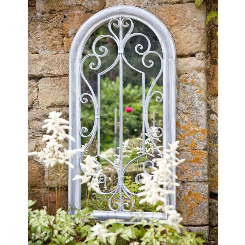 Decorative vertical wall mirror entryway vanity Arch Window Mirror 34270_01