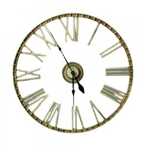 Fuzhou Powerlon Round Oversized Ancient Roman Numeral Style Silent Quartz Movement Wall Clock 35465