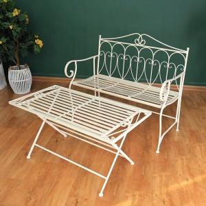 Amazon Best Sellers Unique Design Garden Outdoor Wrought Iron Benches 38420