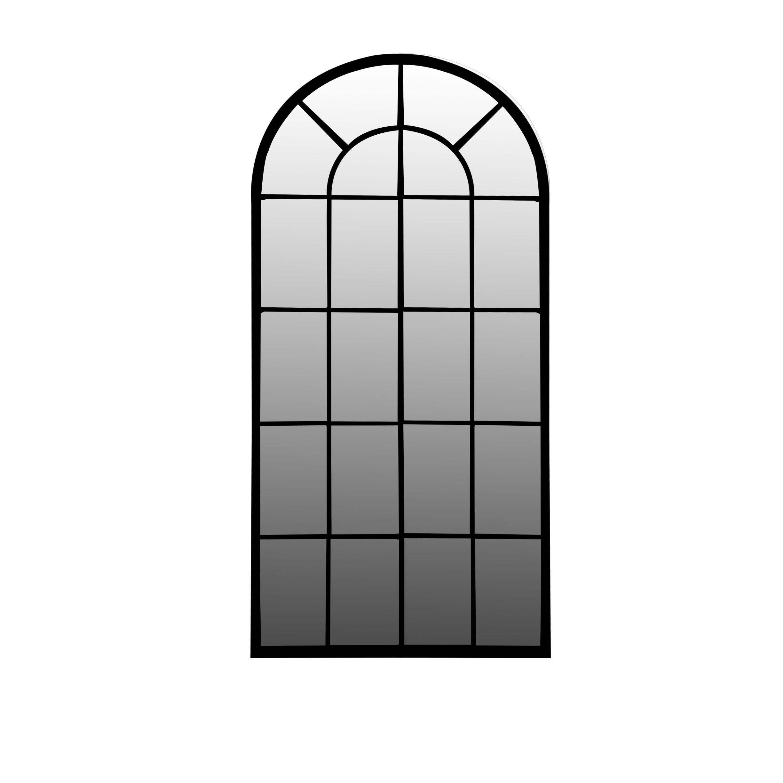Handcrafted Wrought Iron Framed Outdoor Indoor Floor Standing Wall Mounted Mirror 80250