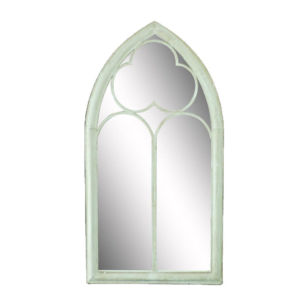 Indoor and Outdoor Antique Metal Decorative Decor Window Standing Farmhouse Mirror Glass 36274