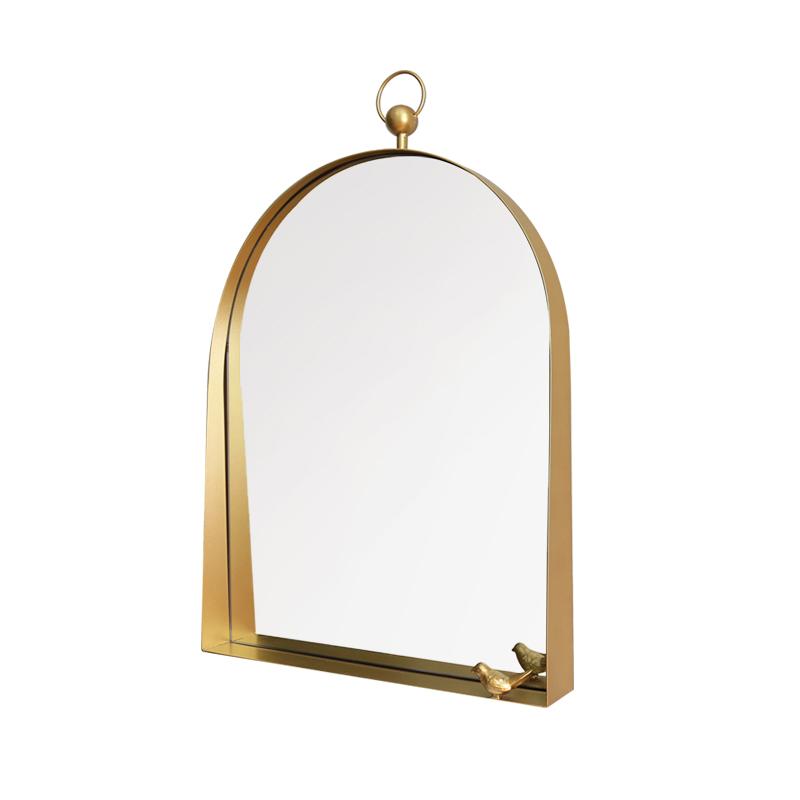 Luxury Modern Arch Windowpane Mirror Decorative Hanging Wrought Iron Gold Framed Mirrors 38457