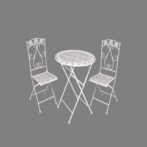 Outside Metal Garden Folding table and chair set rustproof weatherproof Patio furniture garden sets 7611