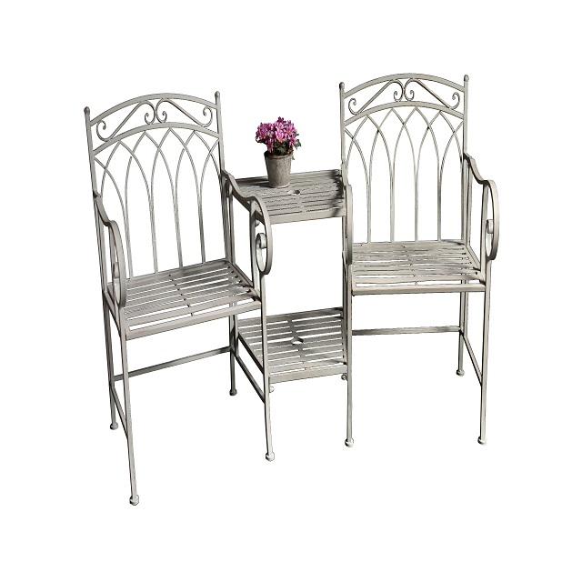 Metal Garden Park Chair Outdoor Benches Patio Yard Porch Work Entryway Bench 36217