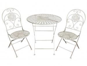 Outdoor Garden Furniture Metal Iron Folding Table And Chair Garden Bistro Sets 7403
