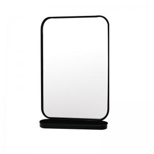 Modern Wall Mounted Wall Mirror Cabinet Metal Decorative Bathroom Mirrors with Shelf 36071