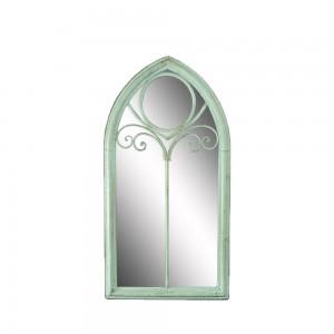 Indoor and Outdoor Antique Green Handmade Metal Frame Venice Mirror Decorative Wall 34116