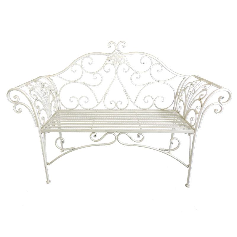 Outdoor Metal Benches Patio Seating Patio Lawn Garden Wedding bench 8574