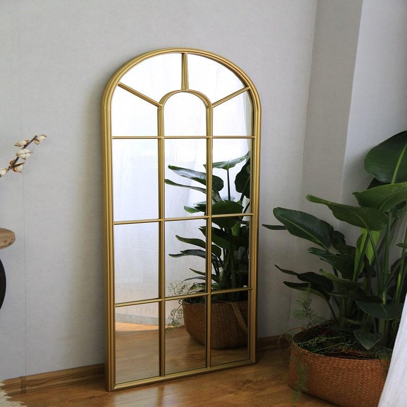 Wholesale Decorative Outdoor Indoor Metal Framed Vanity Wall Mirror 38408_02