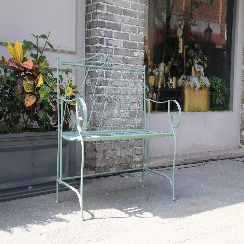 Wholesale Garden Wrought Iron Patio Bench 38432_01