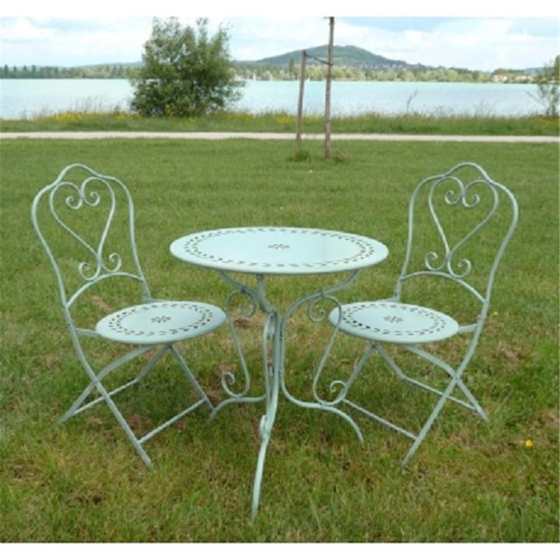 Wrought Iron Folding Garden Outdoor Chair 6241_05