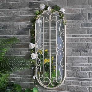 Decoration Metal Frame Oval Framed Wall Mirror 38668